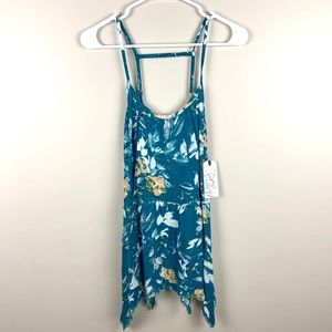 MELROSE AND MARKET Floral Sleeveless Top NWT